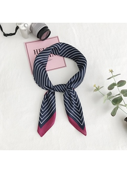 Stripe All-Match Square Scarf