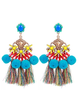 Pompon Tassel Bohemian Earrings