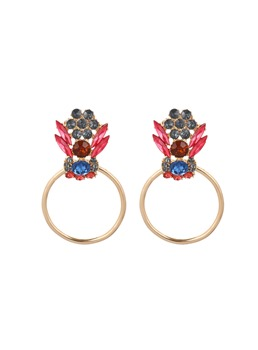 Sparkling Colorful Baroque Rhinestone Earrings