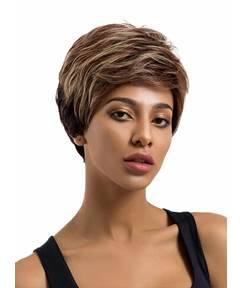 Boy Cut Style Human Hair Blend Wig 8 Inches