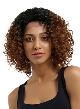 Sexty Kinky Curly 12 Inches Synthetic Hair Lace Front Cap Wig