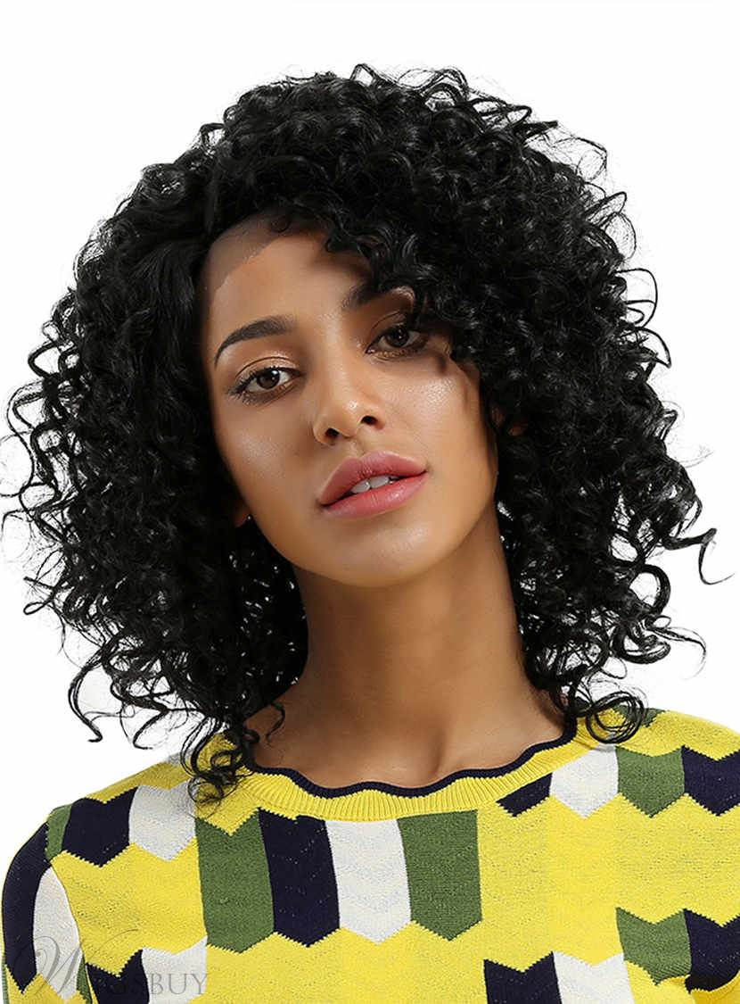 Kinky Curly Synthetic Hair 12 Inches Mid-Length Wigs