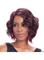 Freestyle Hair Parting Wavy Human Hair Capless Wig 14 Inches