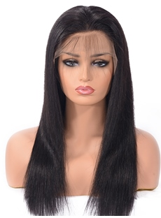 Natural Hairline Straight Lace Front Human Hair Wigs With Baby Hair