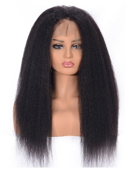 Kinky Straight Human Hair Wig Lace Front Wig Afro Curly Women Wig