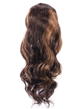 Color Mixing U Part Loose Wave Human Hair Capless Wigs