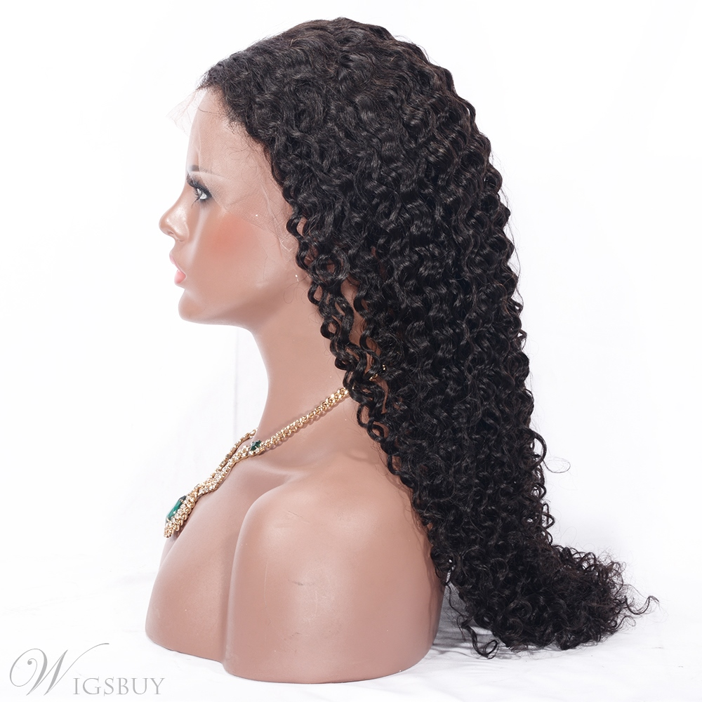 Deep Wave Human Hair Full Lace Front Wig 130% Density Wig