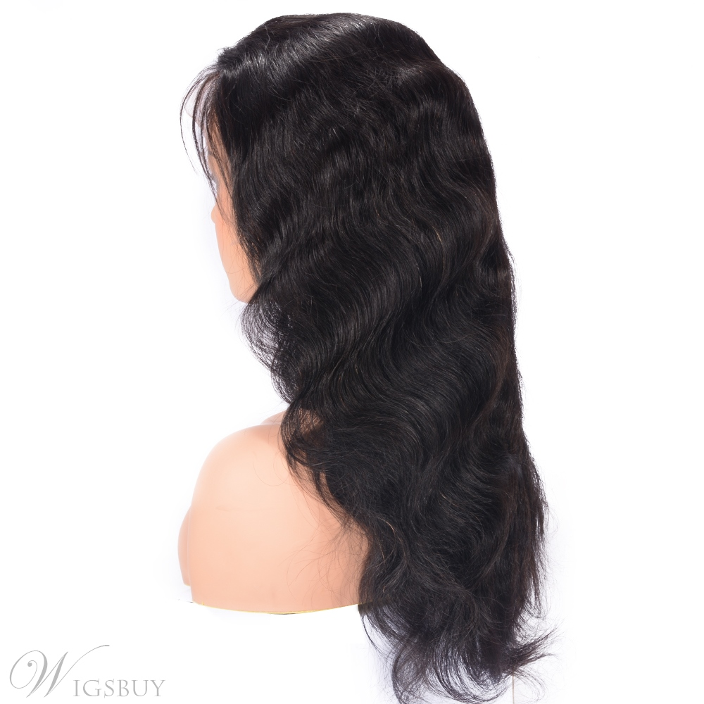 Wavy Lace Front Human Hair Wigs Pre Plucked With Baby Hair Wig