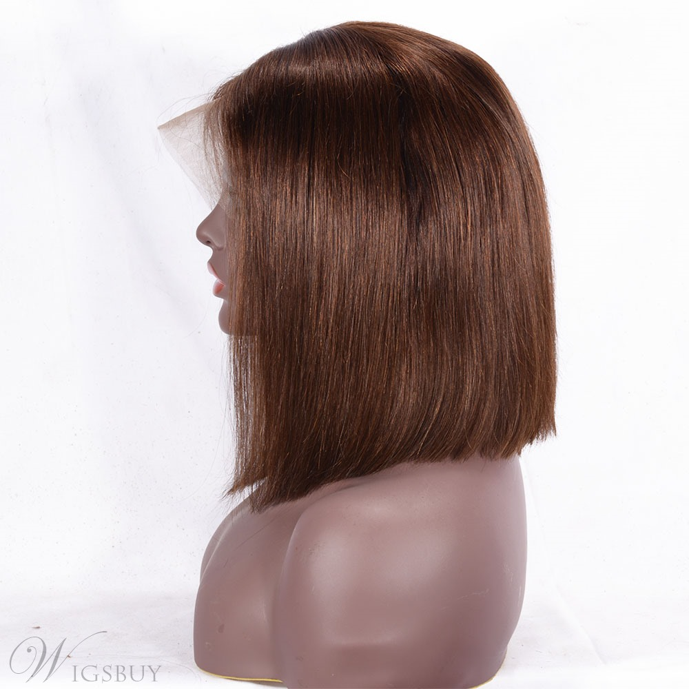 Freestyle Hair Parting Human Hair Lace Front Wig 12 Inches