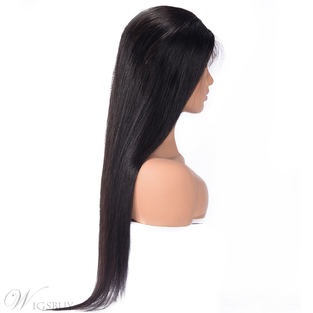 Wigsbuy Natural Straight 360 Lace Front Cap Wig 24 Inches