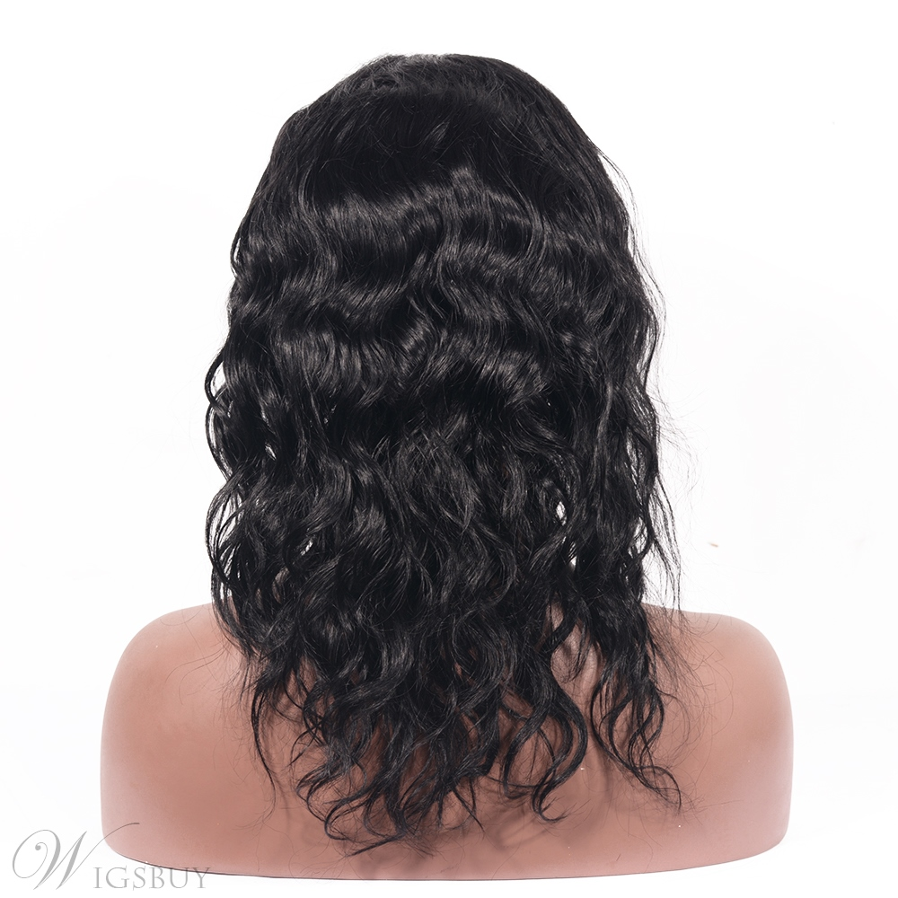 Loose Wavy Human Hair Lace Front Wigs Pre Plucked With Baby Wig
