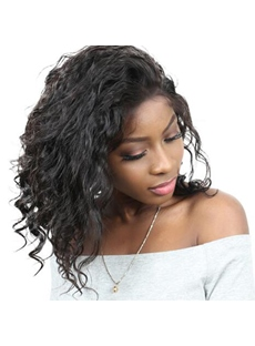Loose Wave Human Hair Capless Wig 16 Inches