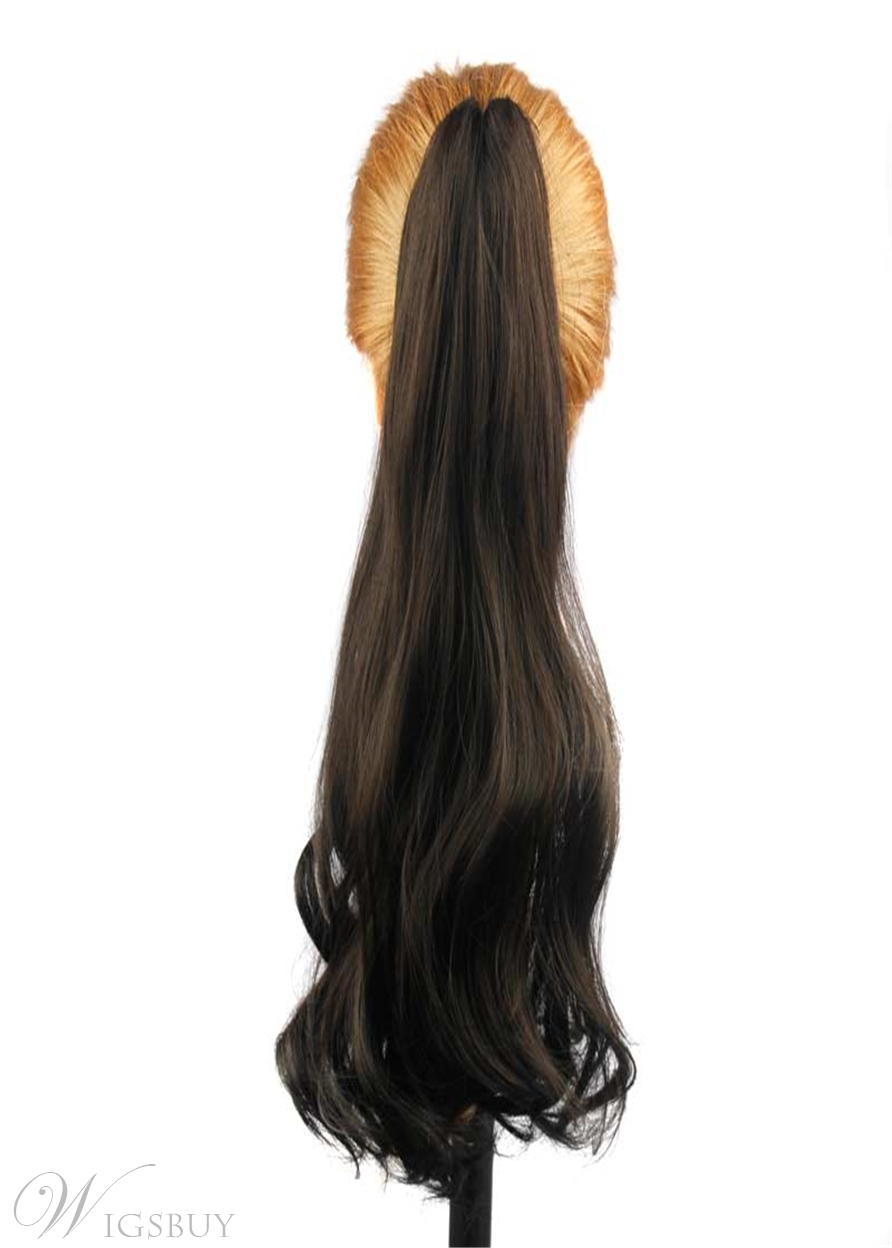 Natural Wavy Synthetic Hair Women Ponytail 24 Inches