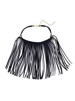 Bohemian Long Tassel Choker Necklace