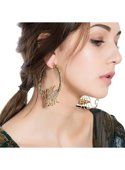 Exaggerated Scorpion Shaped Hoop Earrings