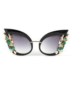 Sparkling Diamante Cat's Eye Sunglasses