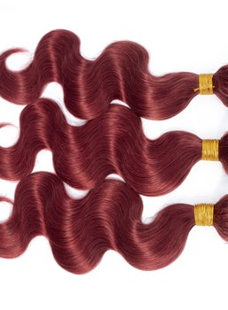Wigsbuy Body Wave Human Hair Weave 3 Pcs #33 Color Human Hair Bundles