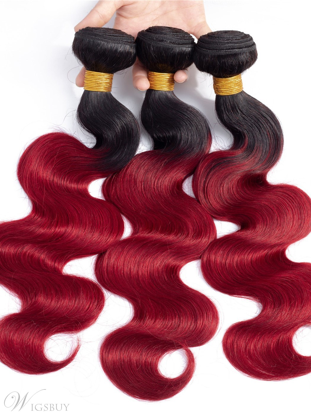 Wigsbuy Ombre Human Hair Extensions Body Wave 4 Pcs