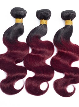 Wigsbuy Ombre Human Hair Weave Bundles Body Wave 4 Bundles 1b/bug