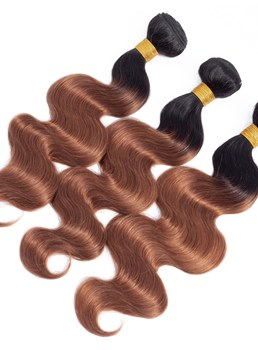 Wigsbuy Two Tone Ombre Human Hair Body Wave Bundles T1B/30