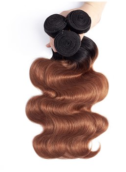 wigsbuy ombre fasci di capelli umani body wave 4 bundles / lot t1b / 30 color