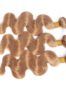 Wigsbuy Honey Blonde Body Wave Human Hair Extension #27 3PCS