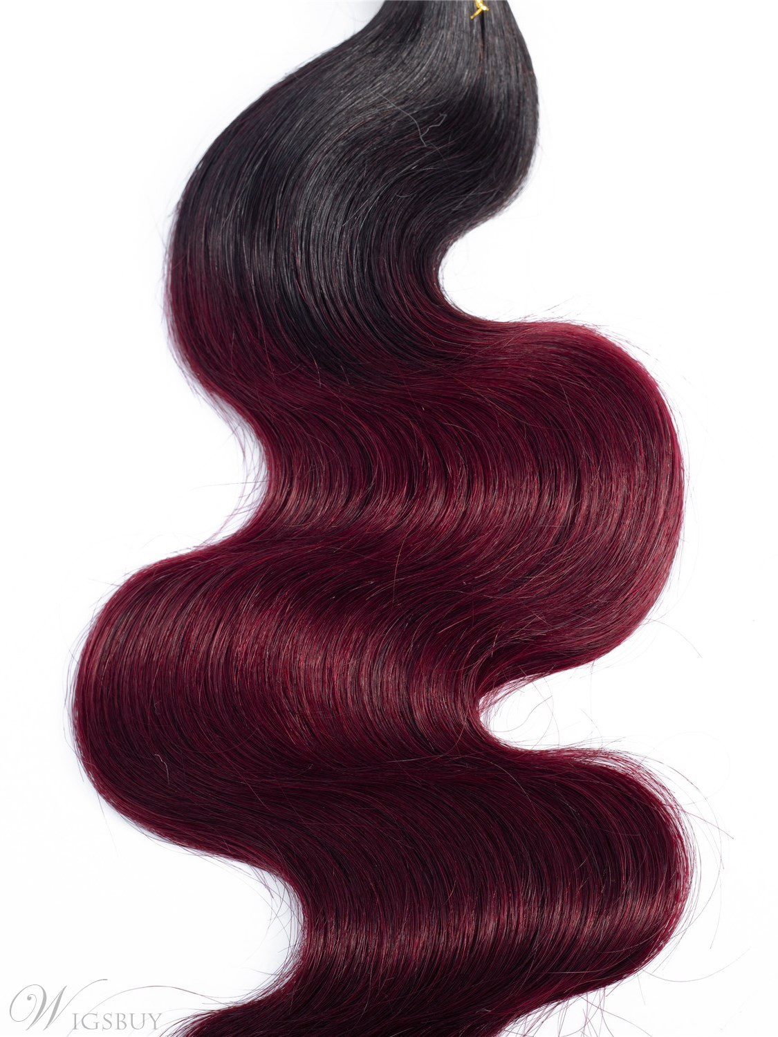 Wigubuy Human Hair Bundles Body Wave Weaves 3 Bundles T1B/BUG