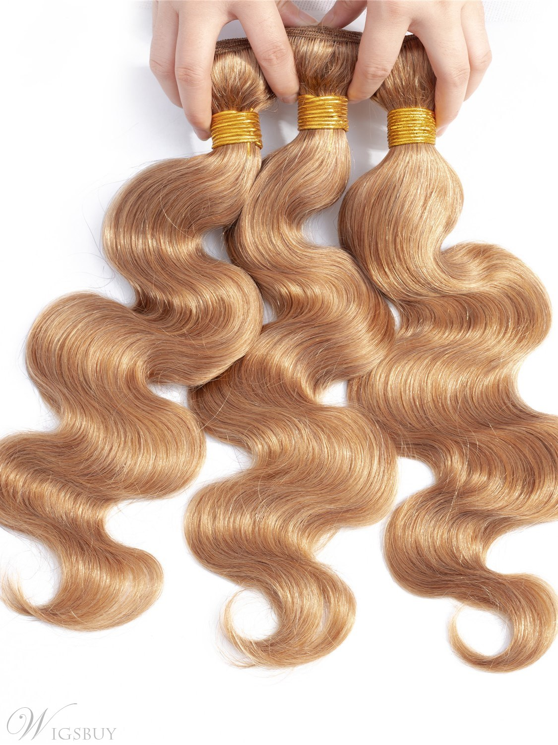 Wigsbuy Body Wave Human Hair WeaveHoney Blonde 4 Bundle Deals