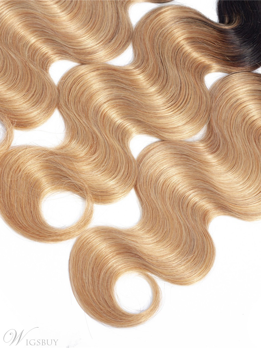 Wigsbuy Ombre Color Body Wave Human Hair Bundles1b/27