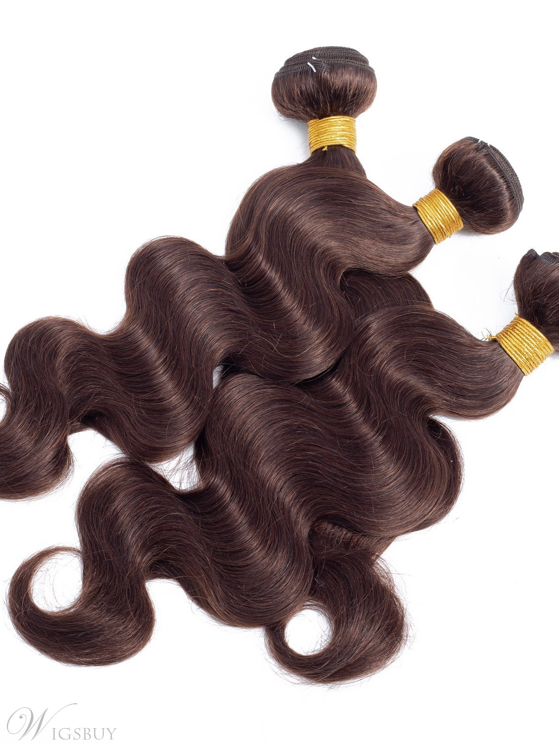 Wigsbuy Body Wave Human Hair Weave 4 Bundles Dark Brown