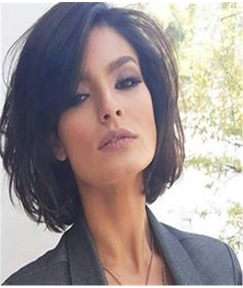 Short Wavy Human Hair Full Lace Wig 14 Inches