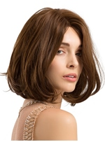 Medium Bob Dark Brown Synthetic Hair Women Wig