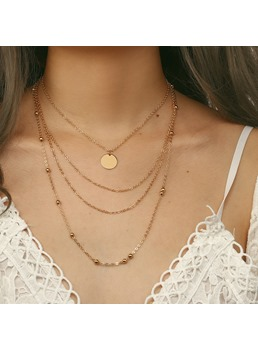 European Hot Simple Multilayer Necklace
