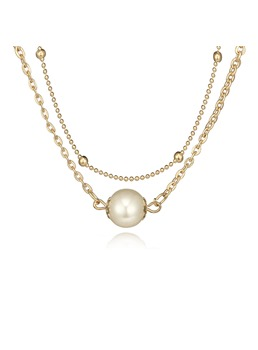 Sweet Pearl Double Choker Necklace
