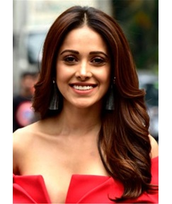 Nushrat Bharucha Hairstyle Big Wave Human Hair Full Lace Wig 24 Inches