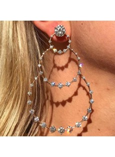 Bling Bling Round Diamante Earrings
