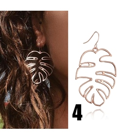 Fashion Hollow Coconut Tree Earrings