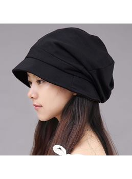Plain Pleated Skullies & Beanies Hats