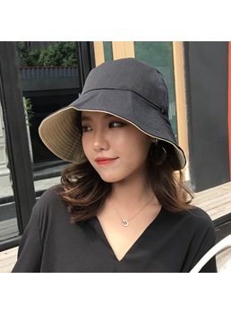 Wide Brim Bucket Sun Hat