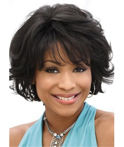 Bob Hairstyle Wavy Human Hair Lace Front Wigs For Black women