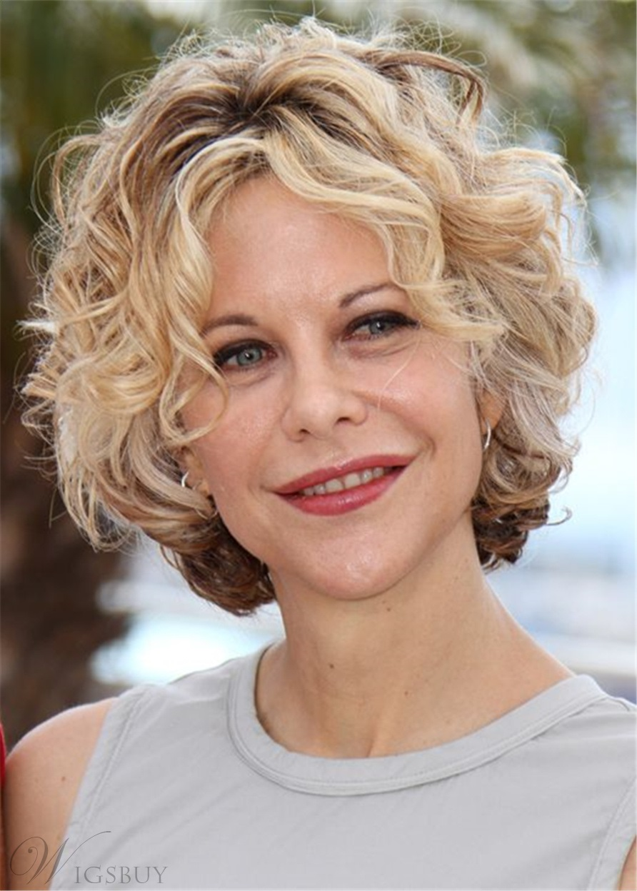 Meg Ryan Hairstyle Out Layer Cut Synthetic Hair Capless Wg