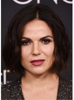 Lana Parrilla Mildly Messy Bob Hairstyle Synthetic Hair Capless Wig 10 Inches