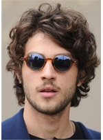 Shaggy Short Curly Synthetic Hair Lace Front Men's Wig