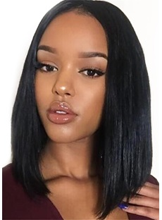 Freestyle Hair Parting Mid-Length Human Hair Capless Wig 14 Inches