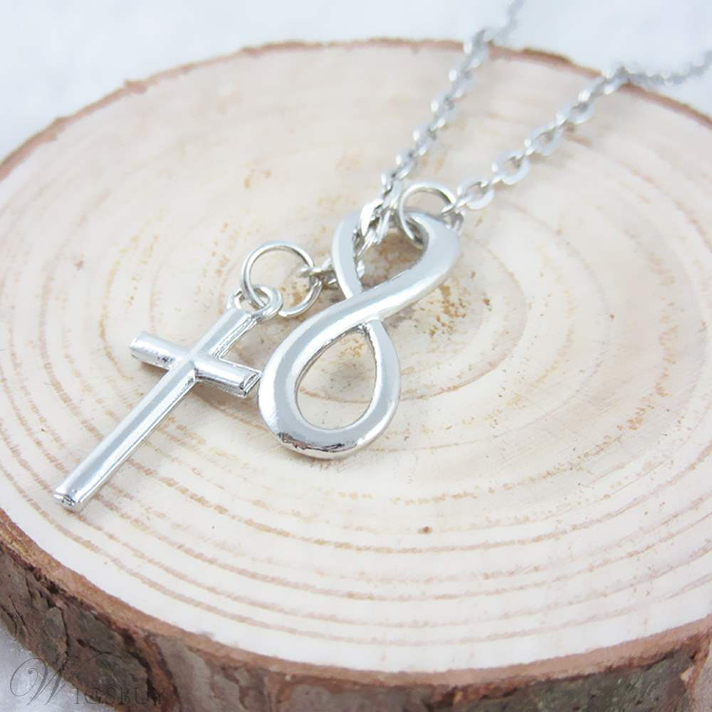 Eight Cross Silver Necklace