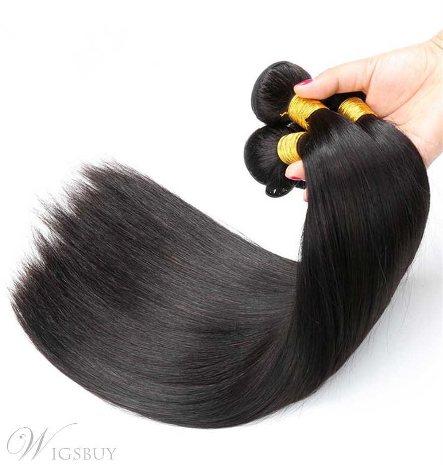 Wigsbuy Hair Brazilian Straight Virgin Human Hair 3 Bundles