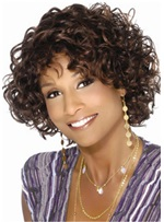 Short Bob Curly Synthetic Hair African American Capless Wig