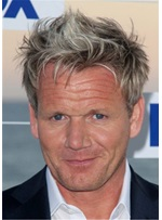 Gordon Ramsay Hairstyle Human Hair Full Lace Wig For Men