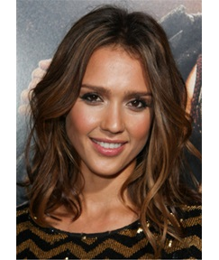Jessica Alba Hairstyle Synthetic Wavy Hair Lace Front Wigs