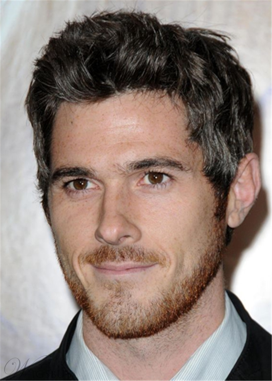 Dave Annable Hair Cut Human Straight Hair Lace Front Men's Wig